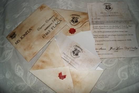 Carta y Sobre Hogwarts
