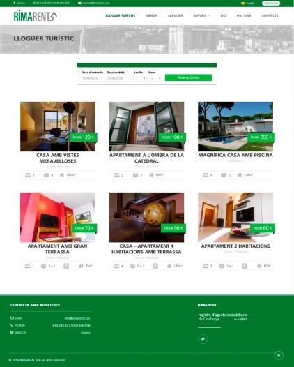 Web RiMa Lloguer turístic