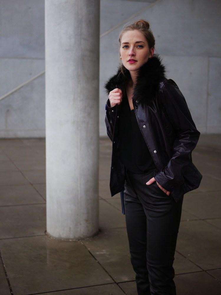 Hunter Boots Vinyl Jacket, Fake Leather Pants and Belt Bag
