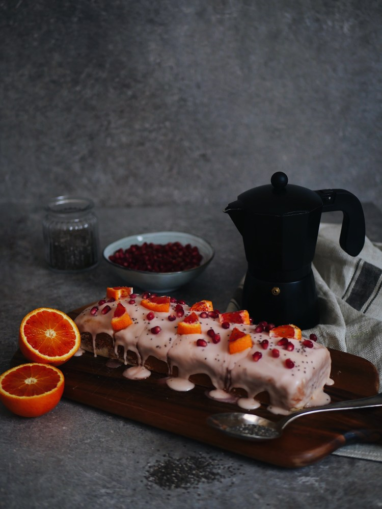 Blutorange Chiasamen Kuchen