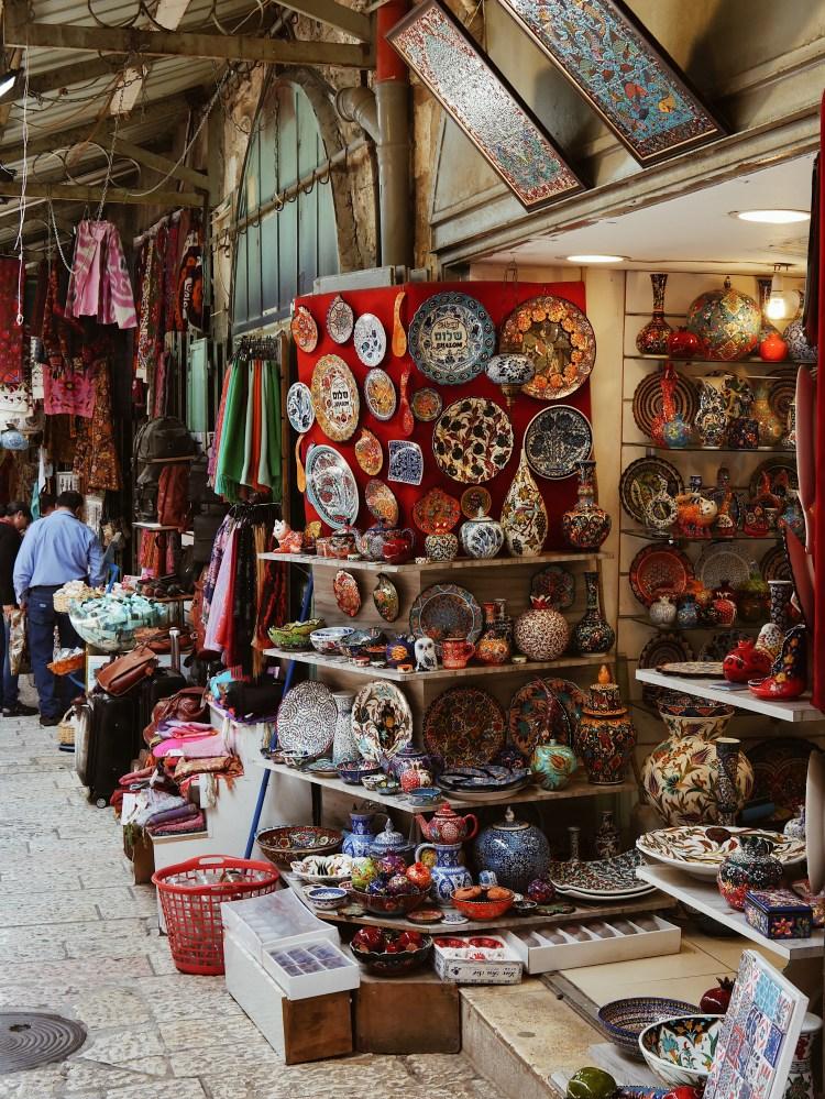 Haendler in der Altstadt Jerusalem