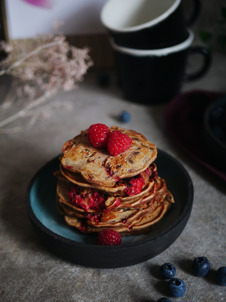 Pancakes filled with Raspberry