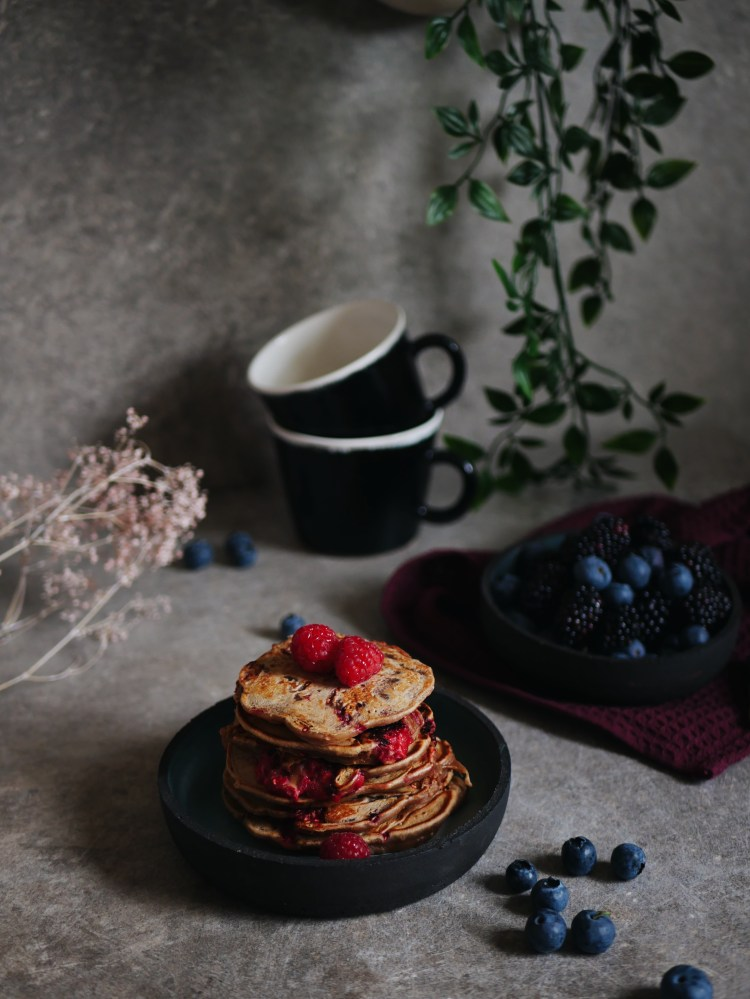 Rezept für Himbeer-Pancakes