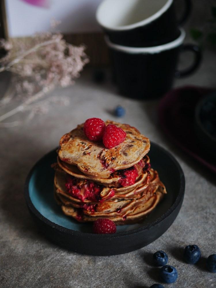 Himbeer Pancakes
