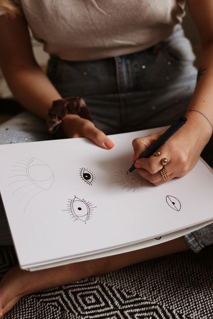 DIY Augen zeichnen