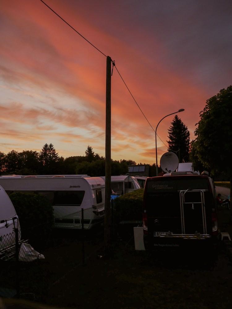 Deutschlandreise Campingplatz Elbsandsteingebirge