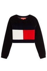 Tommy Hilfiger Cropped-Pullover aus Samt