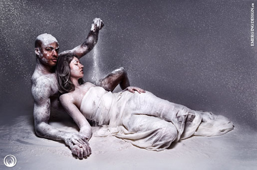 Union of Opposites, image of Laüra Hollick with Ken MacDonnell