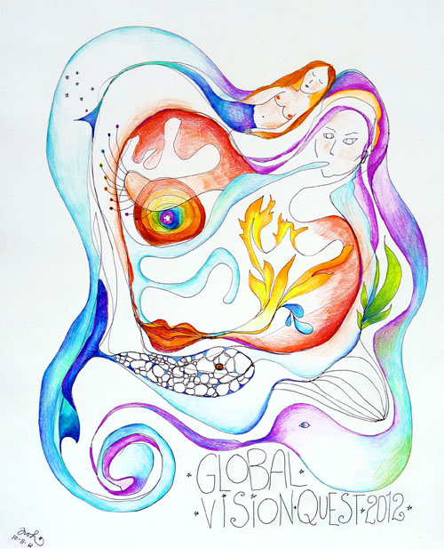 Global Vision Quest Channeled drawing