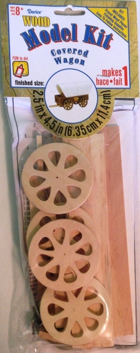 Wood Model Kit Covered Wagon 25 X 45 Inches Laura