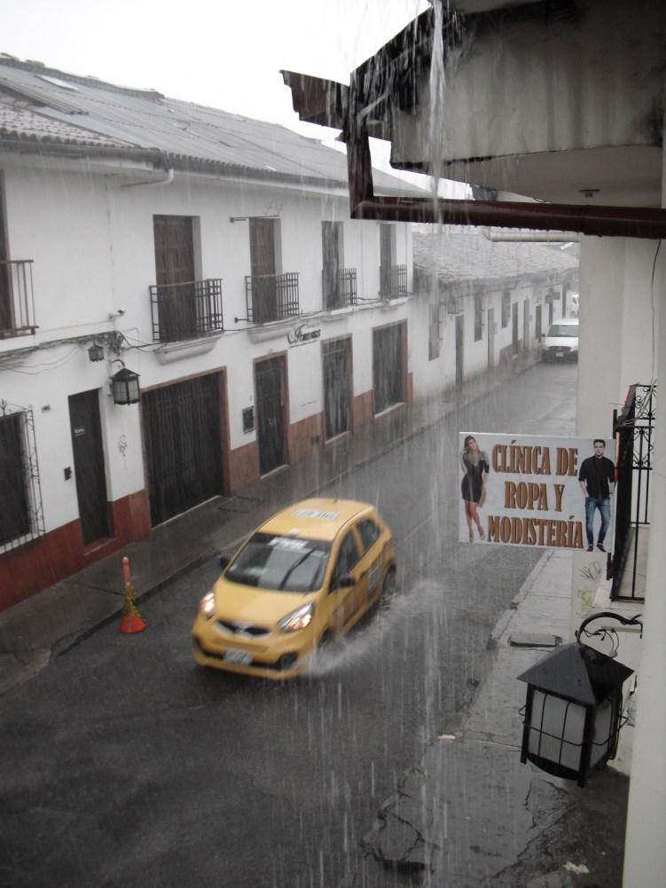 Regen, jeden Abend Regen