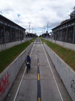 Bogota ist extrem fahrradfreundlich - wie freuen uns schon auf die Rückreise!