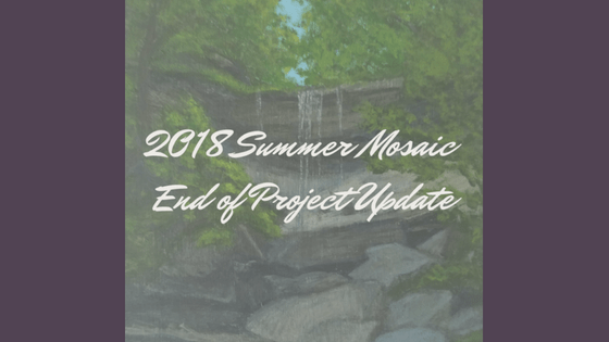 2018 Summer Mosaic End of Project Update blog cover