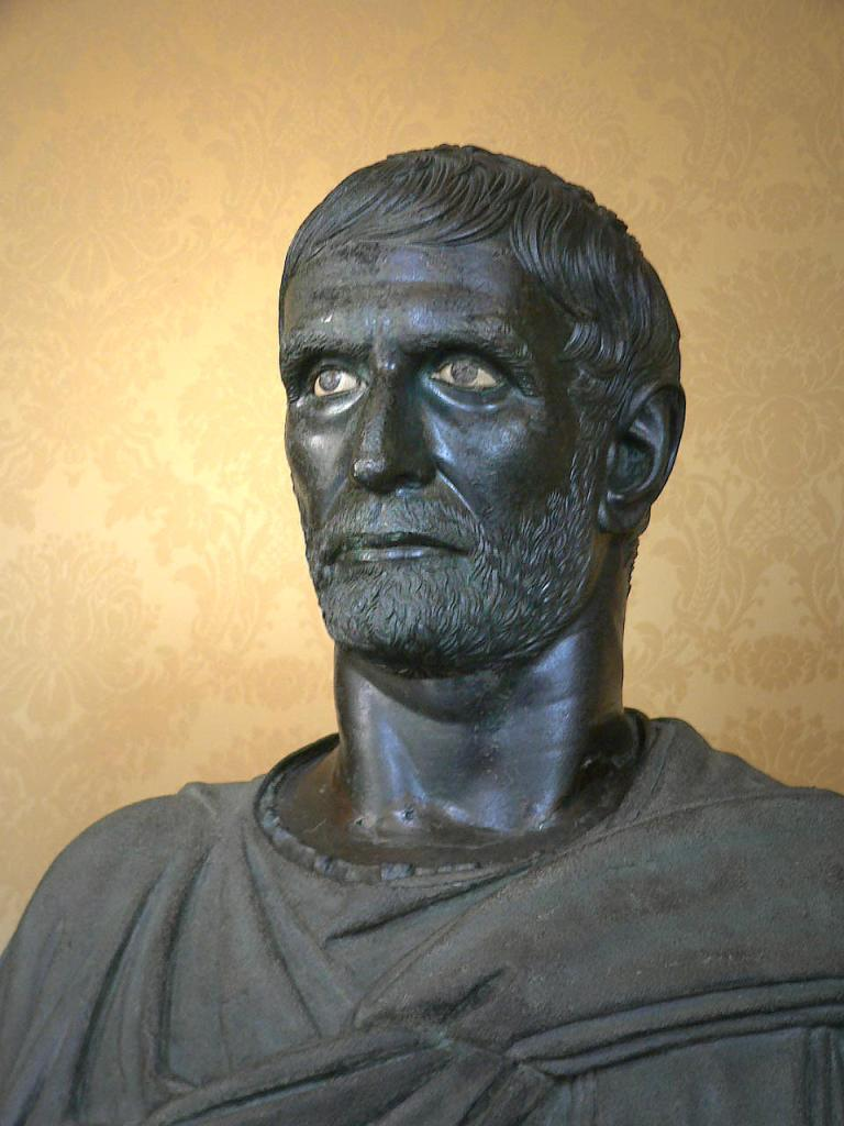 Brutus, bronze bust, 300 BCE. Etruscans Sculpture