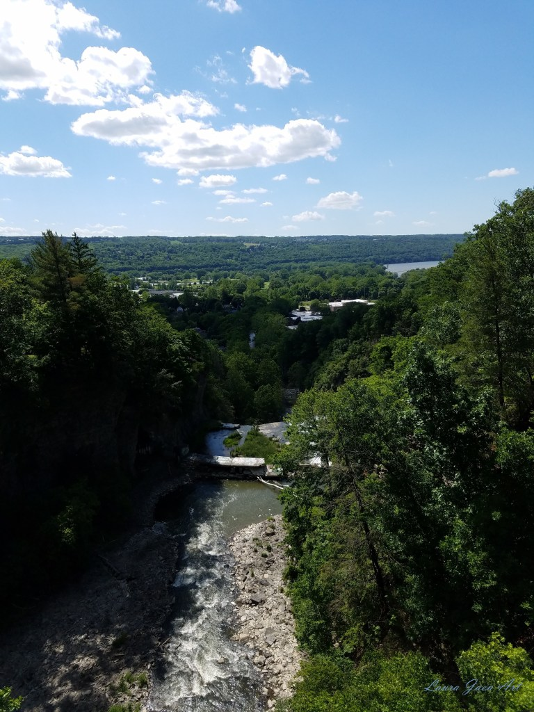 Photo of top of Fall Creek Gorge towards Cayuga Lake Ithaca NY by Laura Jaen Smith