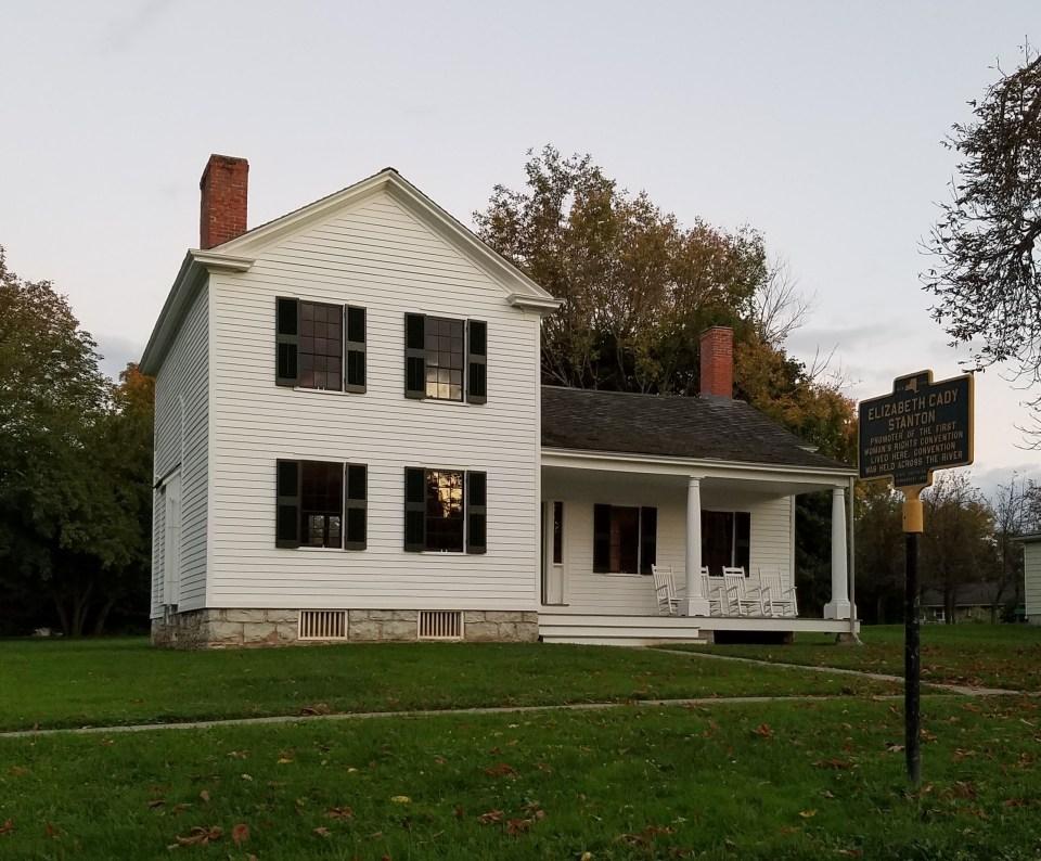 Photo of Elizabeth Cady Stanton house Seneca Falls NY by Laura Jaen Smith