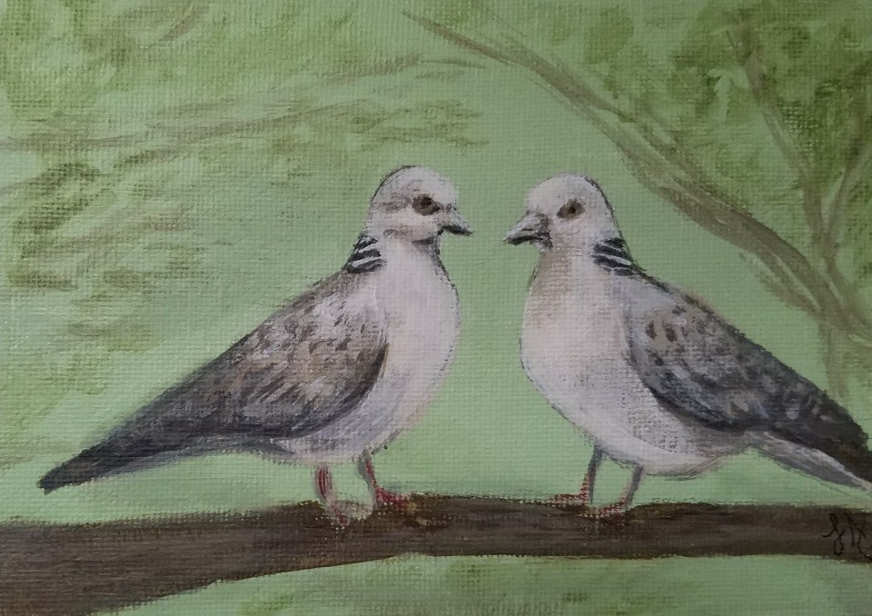 Two Turtle Doves by Laura Jaen Smith