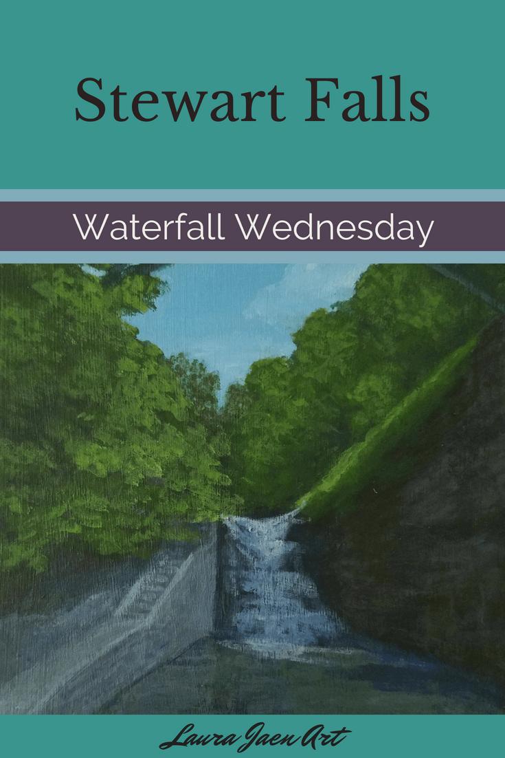 Stewart Falls Waterfall Wednesday blog cover