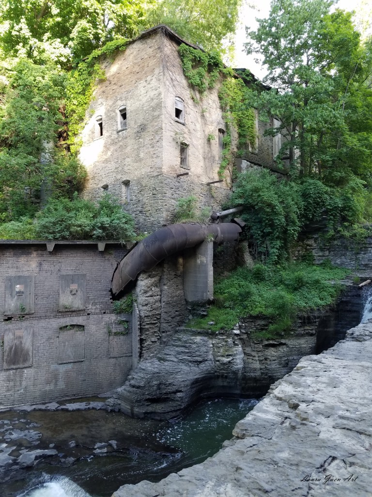 Photo of Businessman's Lunch Falls Well Falls in Ithaca NY by Laura Jaen Smith