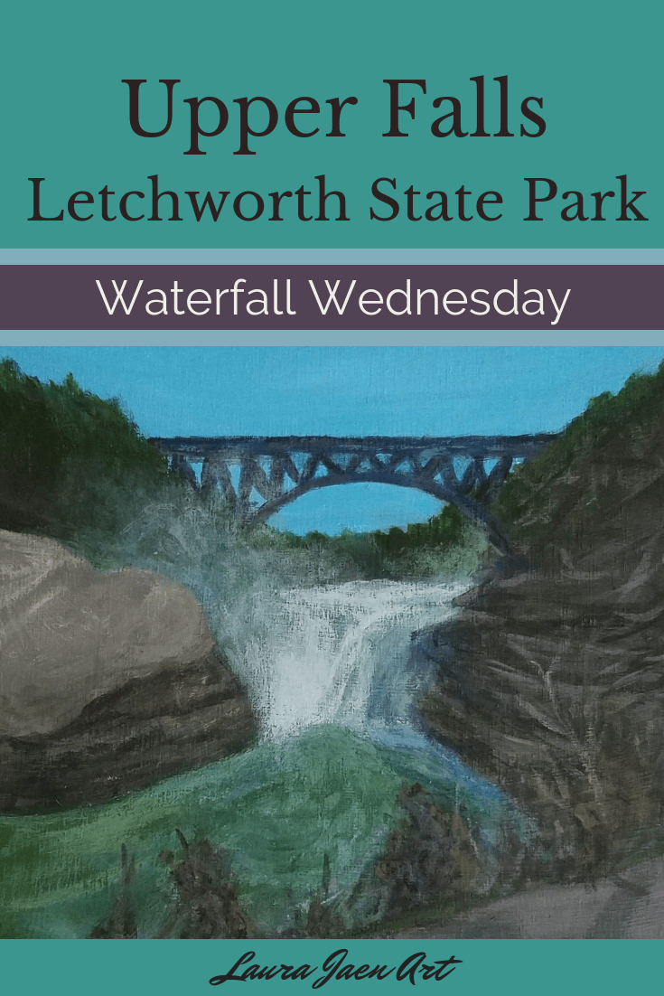 Upper Falls Letchworth State Park Waterfall Wednesday blog cover