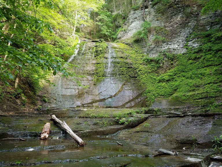 Photo of Sweedler Preserve Lick Brook Waterfall in Ithaca NY by Laura Jaen Smith