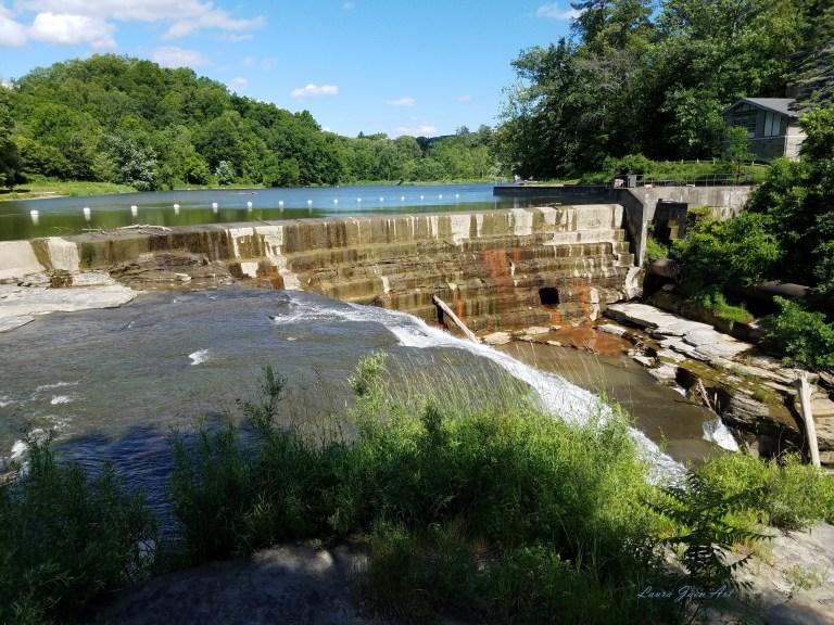 Photo of Beebe Lake Dam Fall Creek Gorge Ithaca NY by Laura Jaen Smith