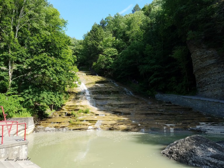 Photo of Buttermilk Falls in Ithaca NY by Laura Jaen Smith