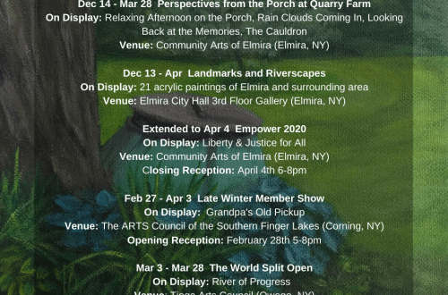 March events graphic