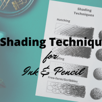 4 Shading Techniques for Ink  & Pencil