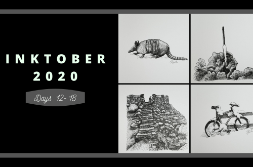 Inktober 2020 Days 12-18 blog cover