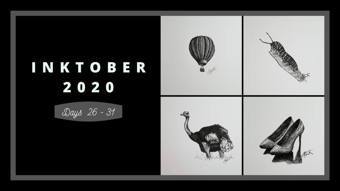 Inktober 2020 Days 26-31 blog cover