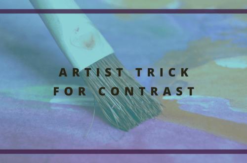 artist trick for contrast blog cover