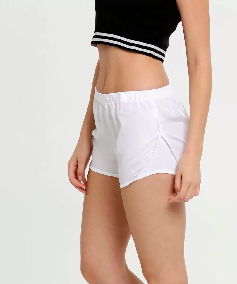 Shorts fitness branco