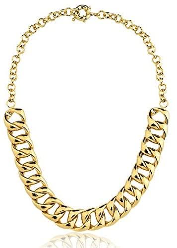 colar corrente grossa elos dourado ouro
