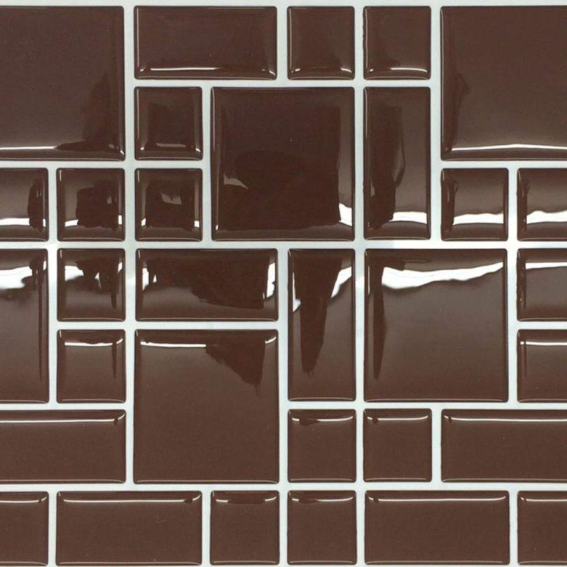 azulejo marrom decorado adesivo resinado para cozinha