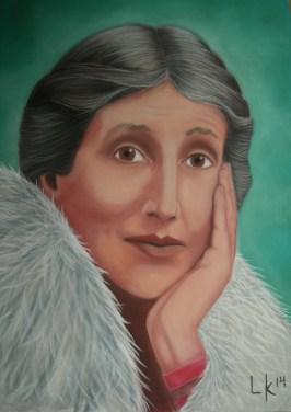 """""""Virginia Woolf"""", pastel, 70x50cm"""