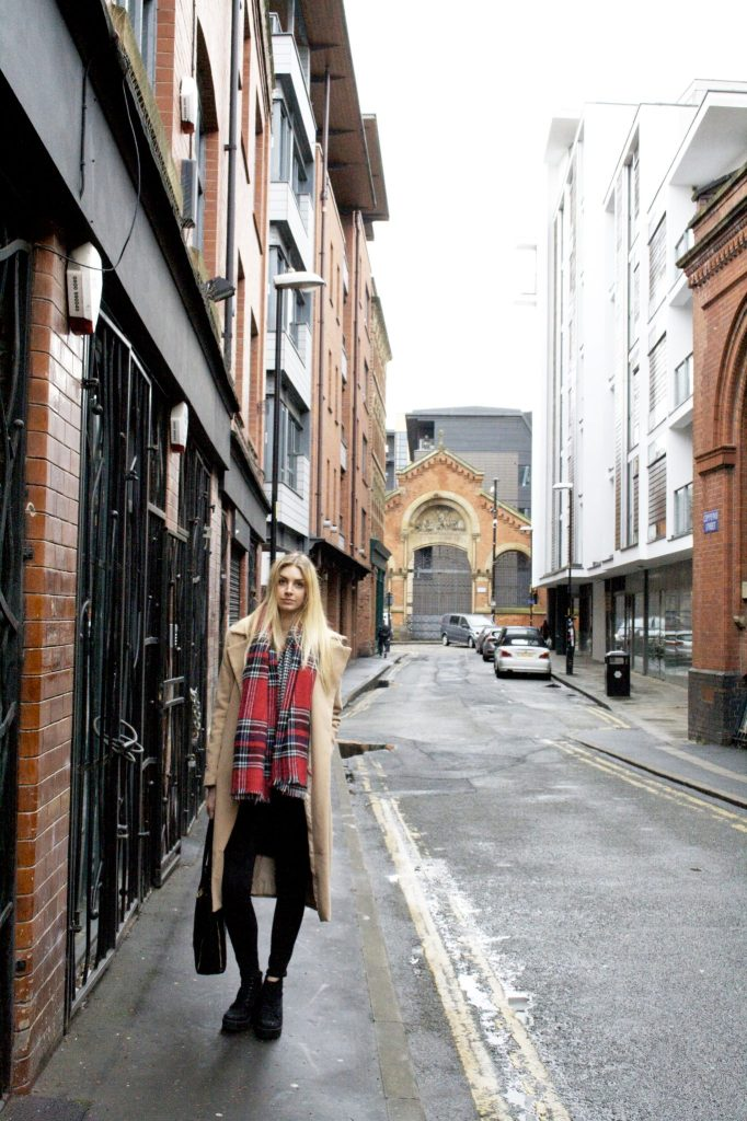 Fashion and lifestyle blog Manchester, Missguided waterfall jacket, blanket scarf, New Look boots.