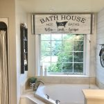 I Used A Sign As A Bathroom Window Valance My Home Matters Llc