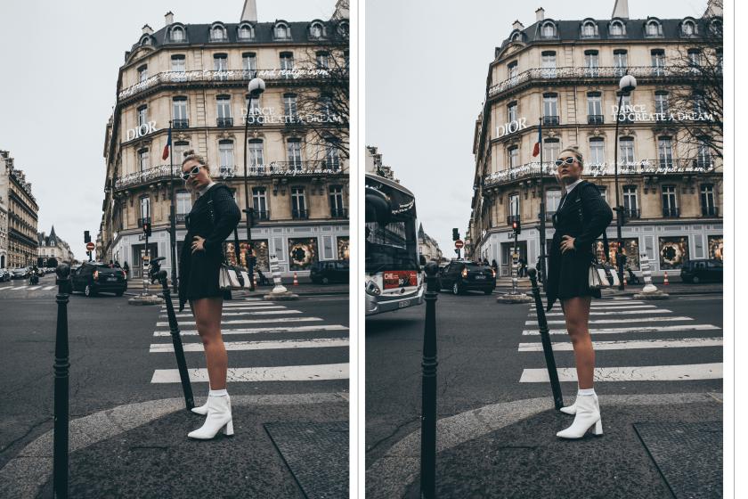 Lauralamode Outfit Paris Streetstyle Fashion Inspo Nadelstreifen Dress Nakd Prada Dior Look Streetstyle Berlin Fashionblogger Modeblogger3