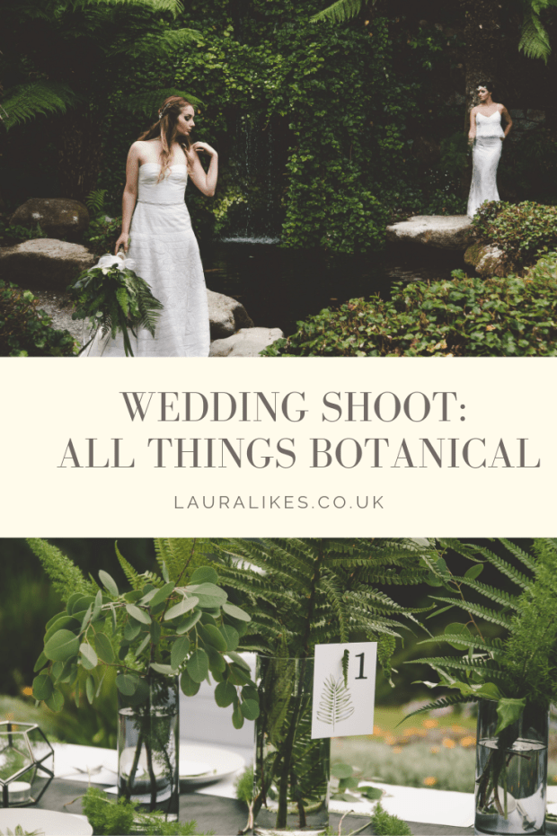 Check out this gorgeous botanical wedding shoot from Suzanne Johnson Photography, for which I designed the invitations and reception stationery. Set in the exotic gardens of Trebah in Cornwall, lush ferns and greenery informed the stationery design. Click though for more inspiration! invites, cake, botanic, greenhouse, glasshouse, eucalyptus, ferns, leafy, foliage, cake, goddess, nature, natural, bride, bridal, Laura likes