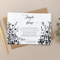 wedding, invitation, invite, invitations, invites, stationery, stationary, seed, paper, plantable, handmade, eco, sustainable, recycled, zero waste, uk, Cornwall, floral, watercolour, hoop, foliage, Laura likes