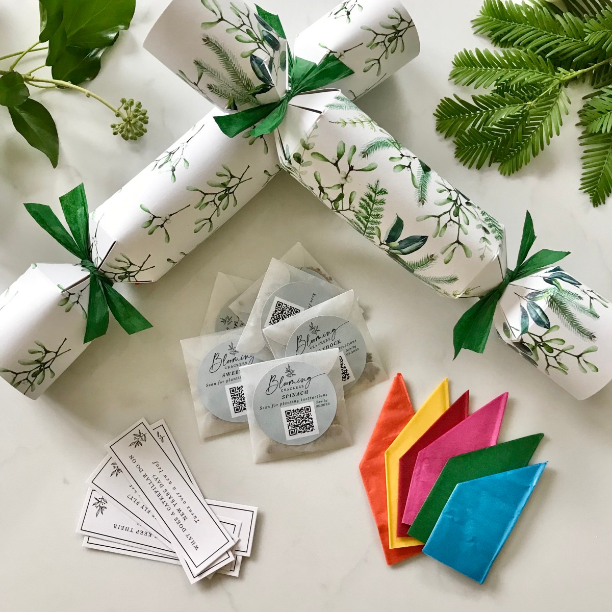 best crackers, best Christmas crackers, sustainable, 2021, eco, environmentally, friendly, green, plastic free, zero waste, recycled, recyclable, christmas, crackers, bon bons, Christmas crackers with seeds inside, crackers with seeds inside, Christmas crackers with seeds, beautiful Christmas crackers, beautiful crackers