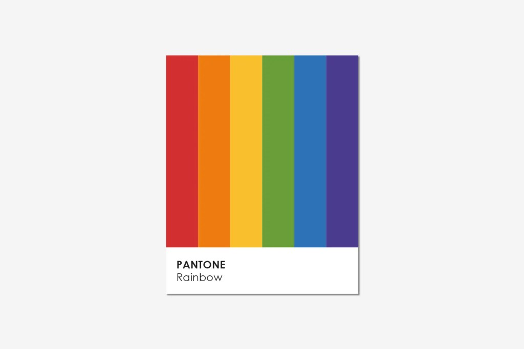 For the love of color - Pantone Rainbow