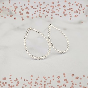 Silver Tear Drop Stud Earrings by Laura Llewellyn Design