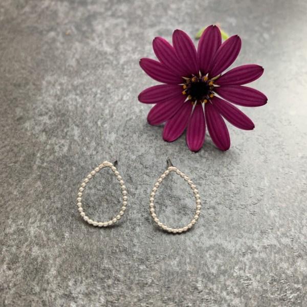 Small teardrop stud earrings
