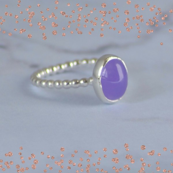 Purple jade stacking ring
