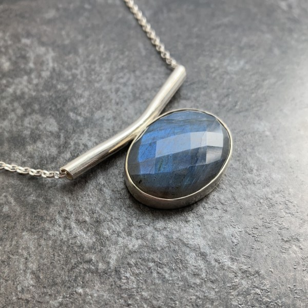 Labradorite gemstone pendant