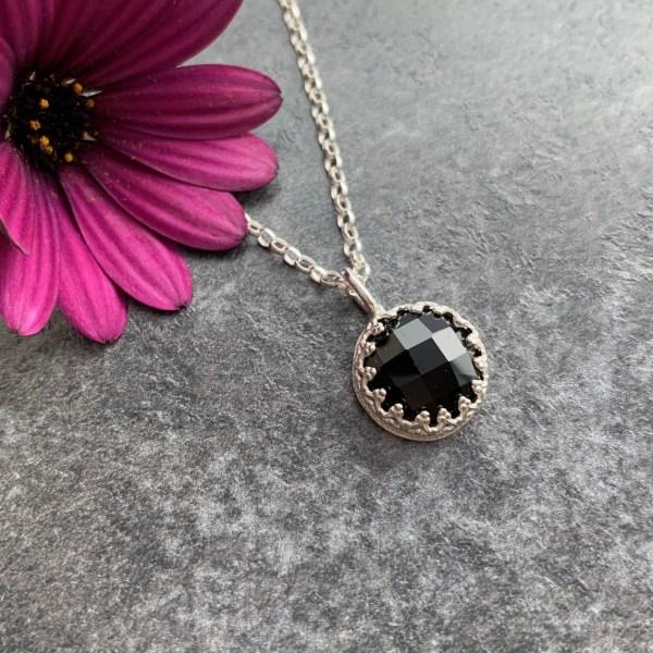 Black gemstone pendant