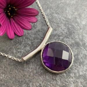Purple gemstone pendant