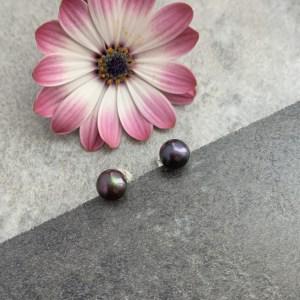 peacock pearl stud earrings